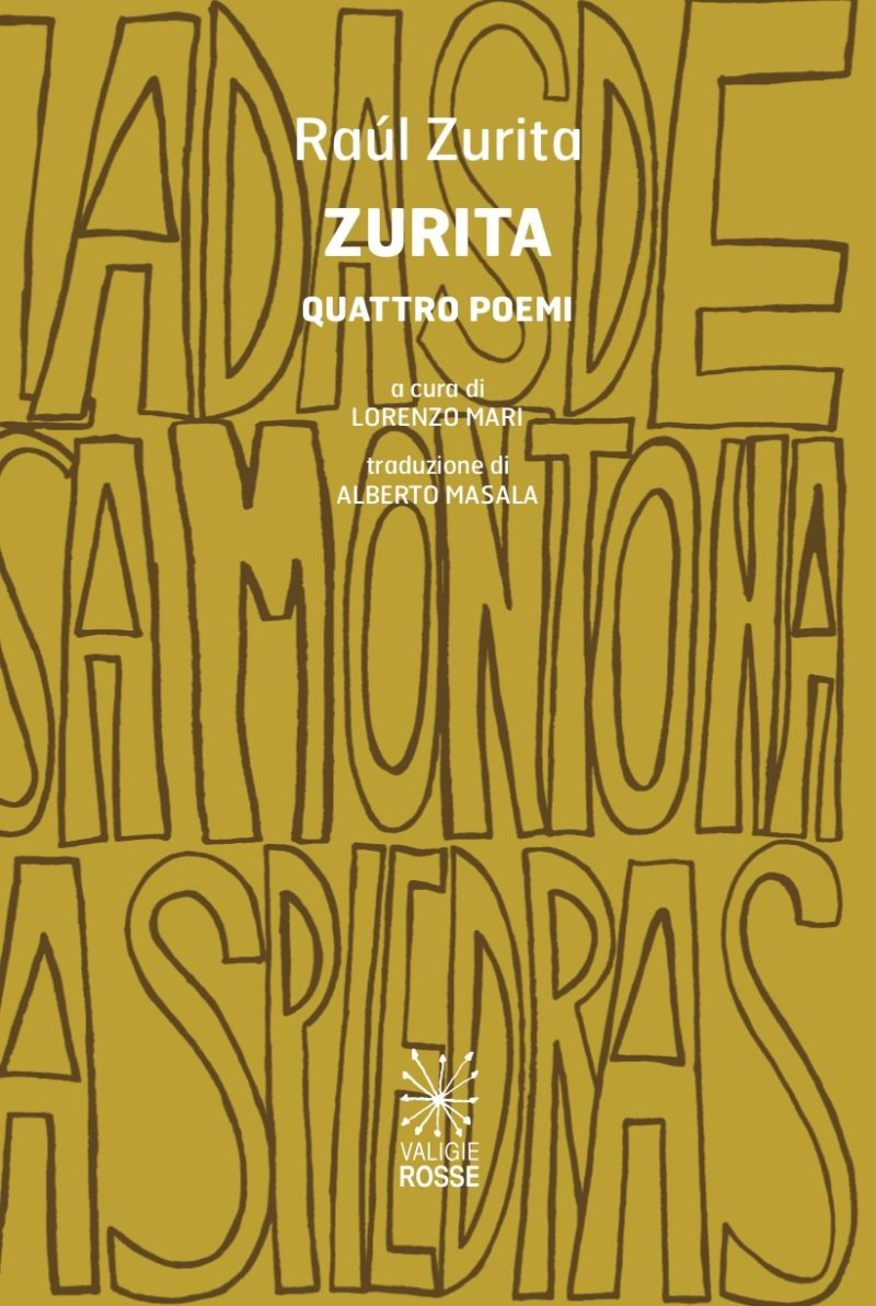 "Copertina di ""Quattro Poemi"" di Raul Zurita"