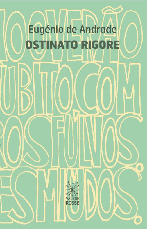 Copertina di Ostinato Rigore di Eugenio de Andrade